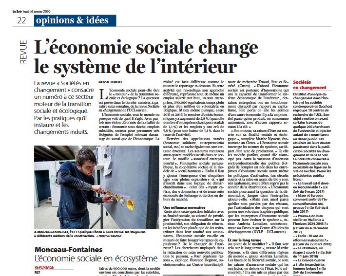 20200117, article Le Soir_couv